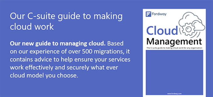 Get our C-Suite guide to making cloud work